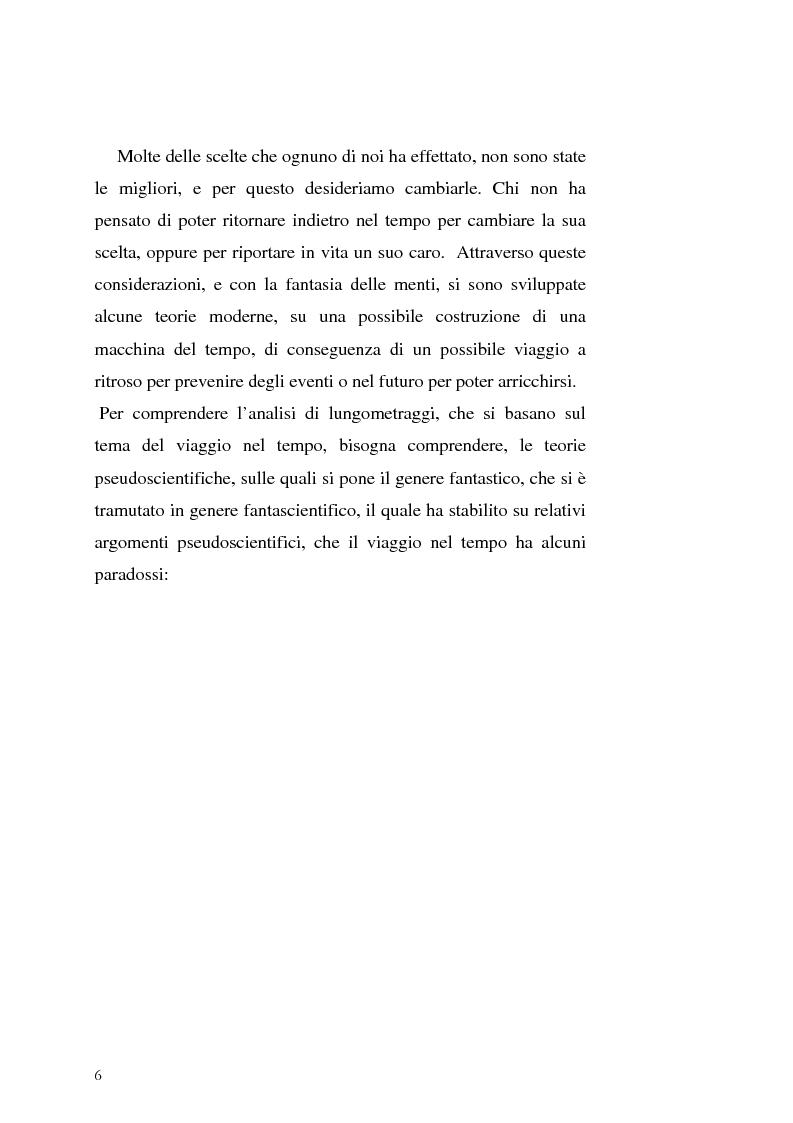 Anteprima della tesi: Le Proiezioni nel tempo: Il tema della macchina del tempo tra cinema analogico e cinema digitale, Pagina 2