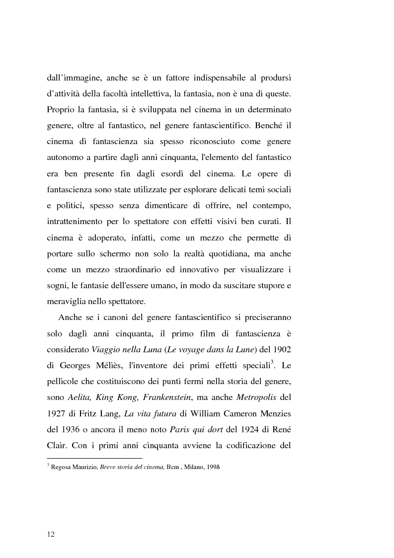 Anteprima della tesi: Le Proiezioni nel tempo: Il tema della macchina del tempo tra cinema analogico e cinema digitale, Pagina 8