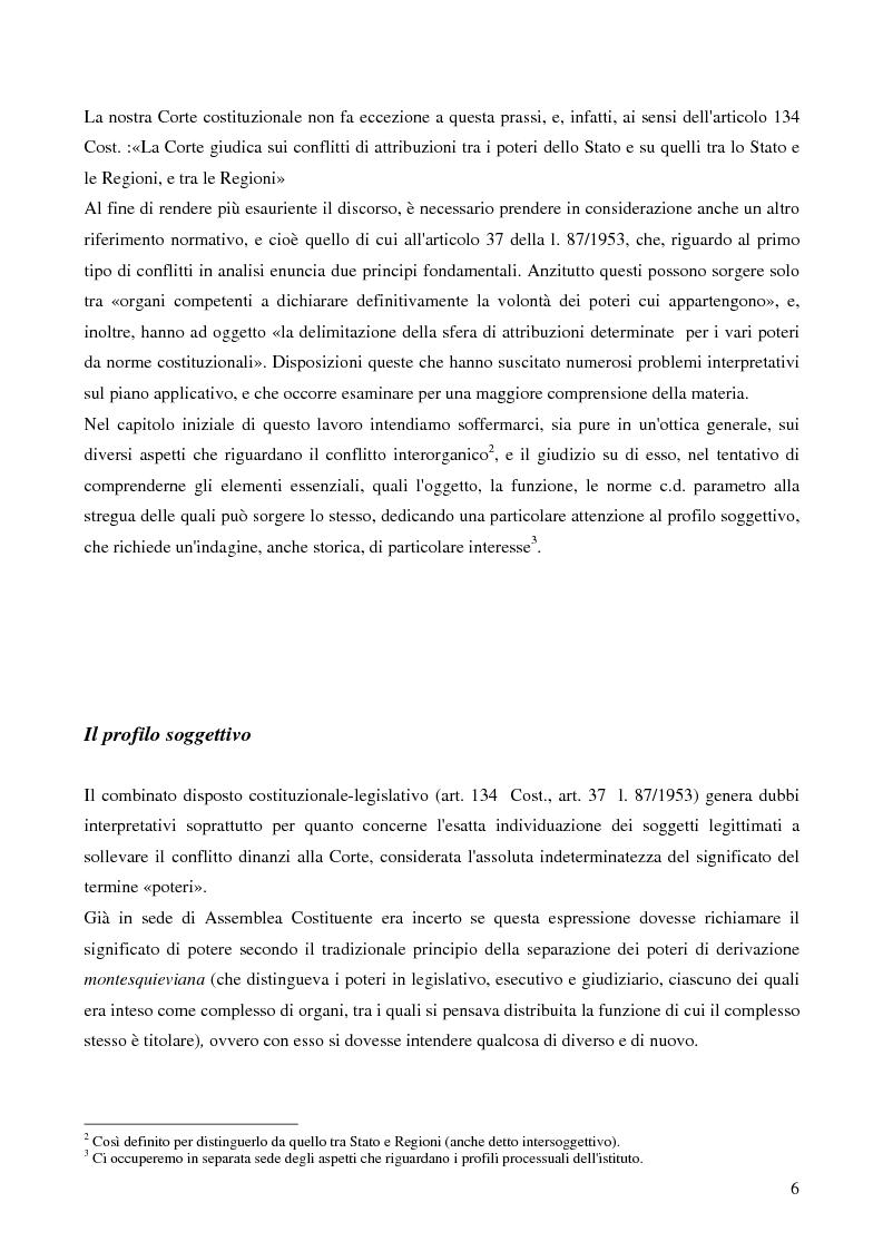 Anteprima della tesi: Il potere di sollevare un conflitto interorganico come potere esauribile ''uno actu''. Il caso della sentenza n°116 del 2003 della corte costituzionale, Pagina 4