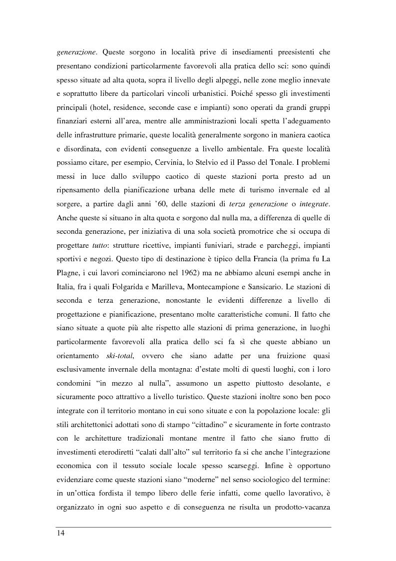 Anteprima della tesi: Il turista della neve a Ponte di Legno-Tonale: profili e comportamento da un'indagine diretta, Pagina 10