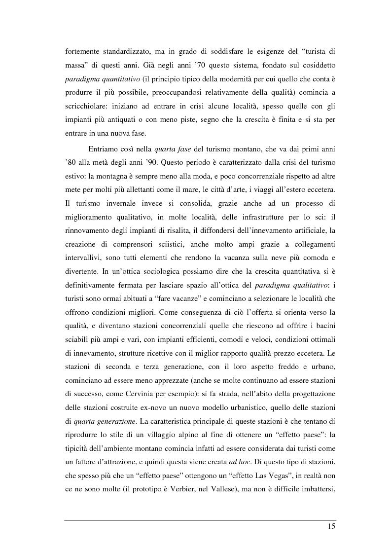 Anteprima della tesi: Il turista della neve a Ponte di Legno-Tonale: profili e comportamento da un'indagine diretta, Pagina 11
