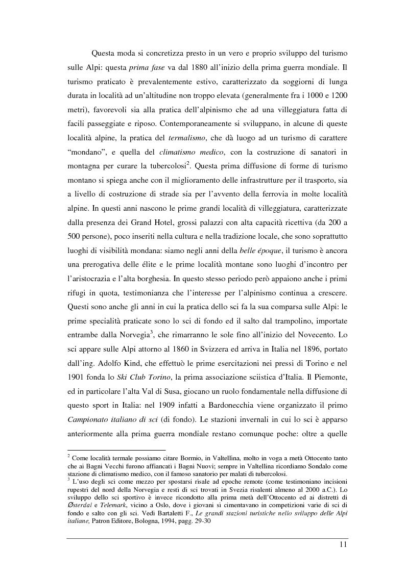 Anteprima della tesi: Il turista della neve a Ponte di Legno-Tonale: profili e comportamento da un'indagine diretta, Pagina 7