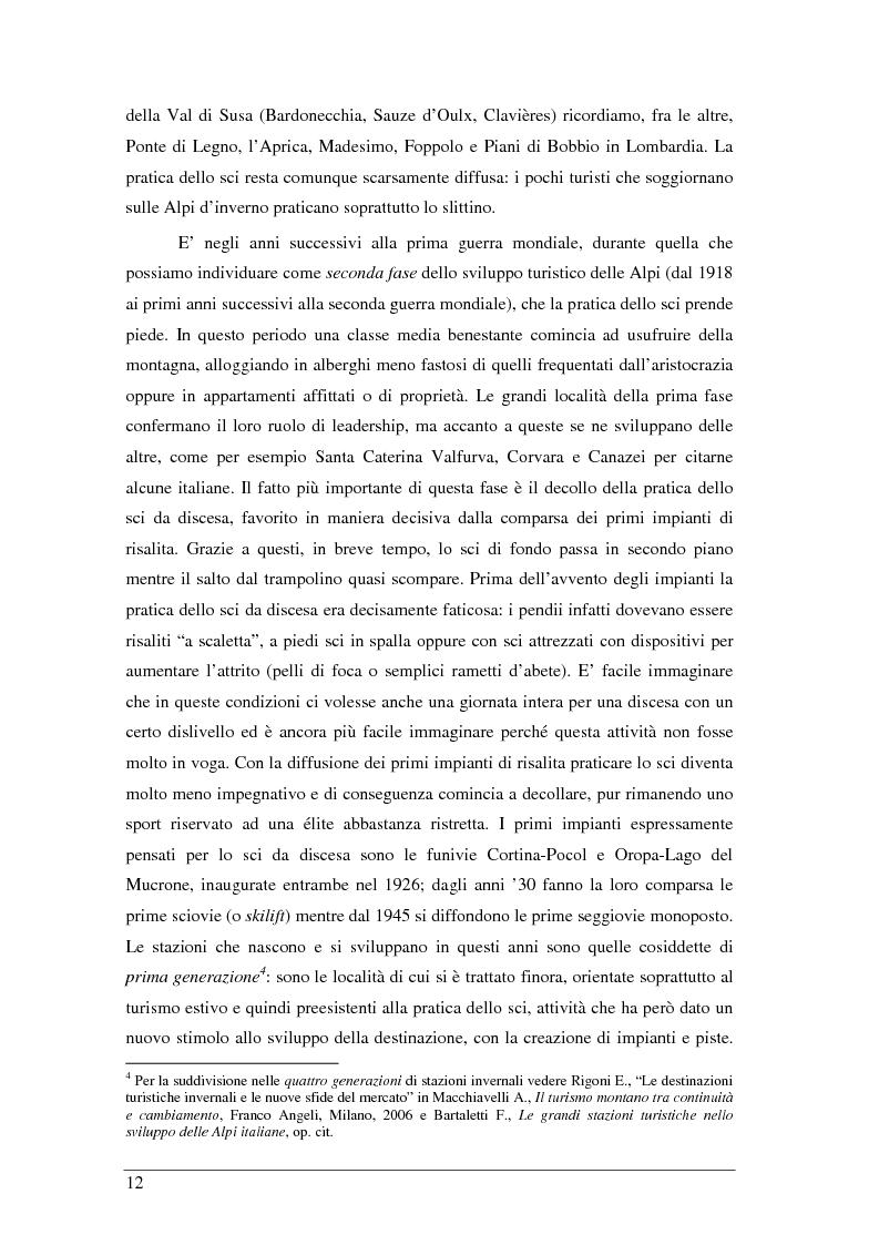 Anteprima della tesi: Il turista della neve a Ponte di Legno-Tonale: profili e comportamento da un'indagine diretta, Pagina 8