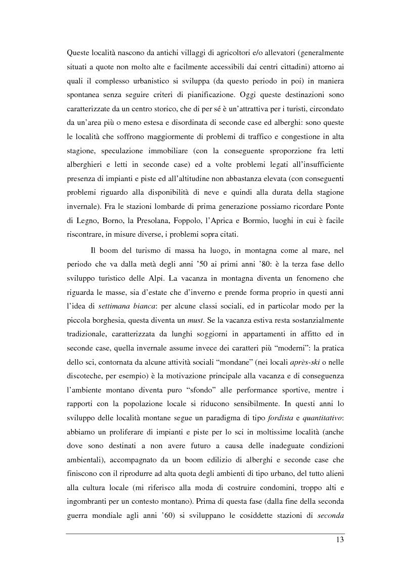 Anteprima della tesi: Il turista della neve a Ponte di Legno-Tonale: profili e comportamento da un'indagine diretta, Pagina 9