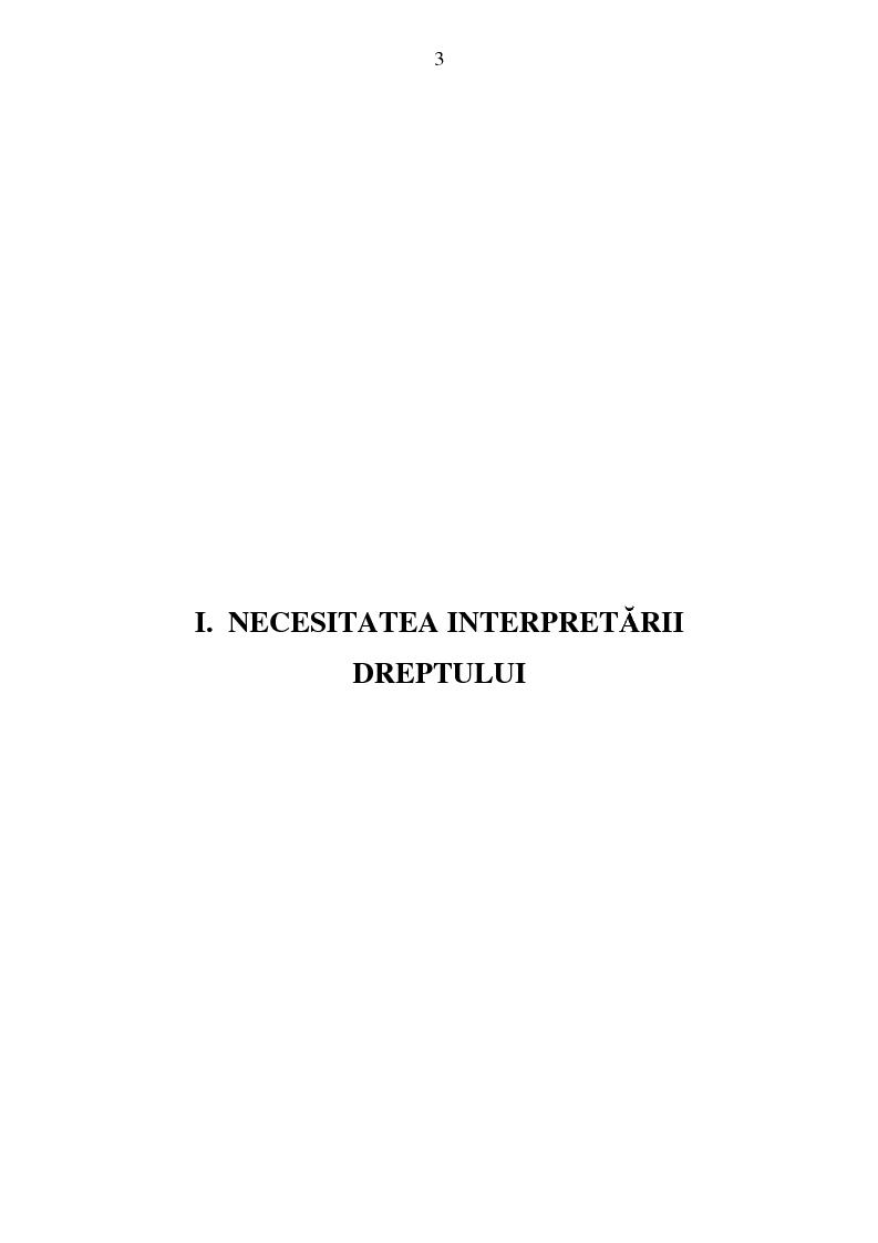 Anteprima della tesi: Interpretarea normelor juridice, Pagina 1