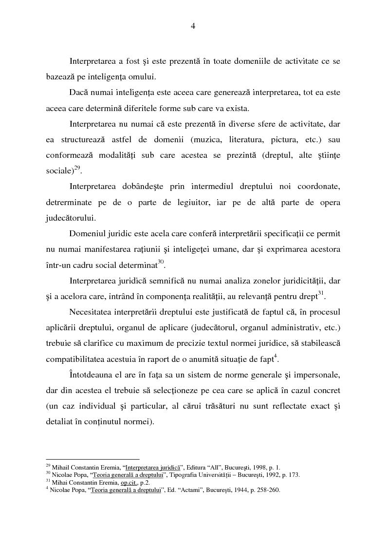 Anteprima della tesi: Interpretarea normelor juridice, Pagina 2