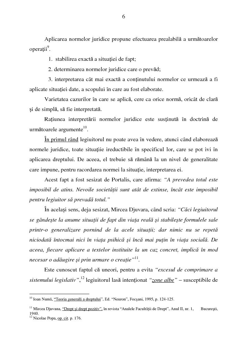 Anteprima della tesi: Interpretarea normelor juridice, Pagina 4