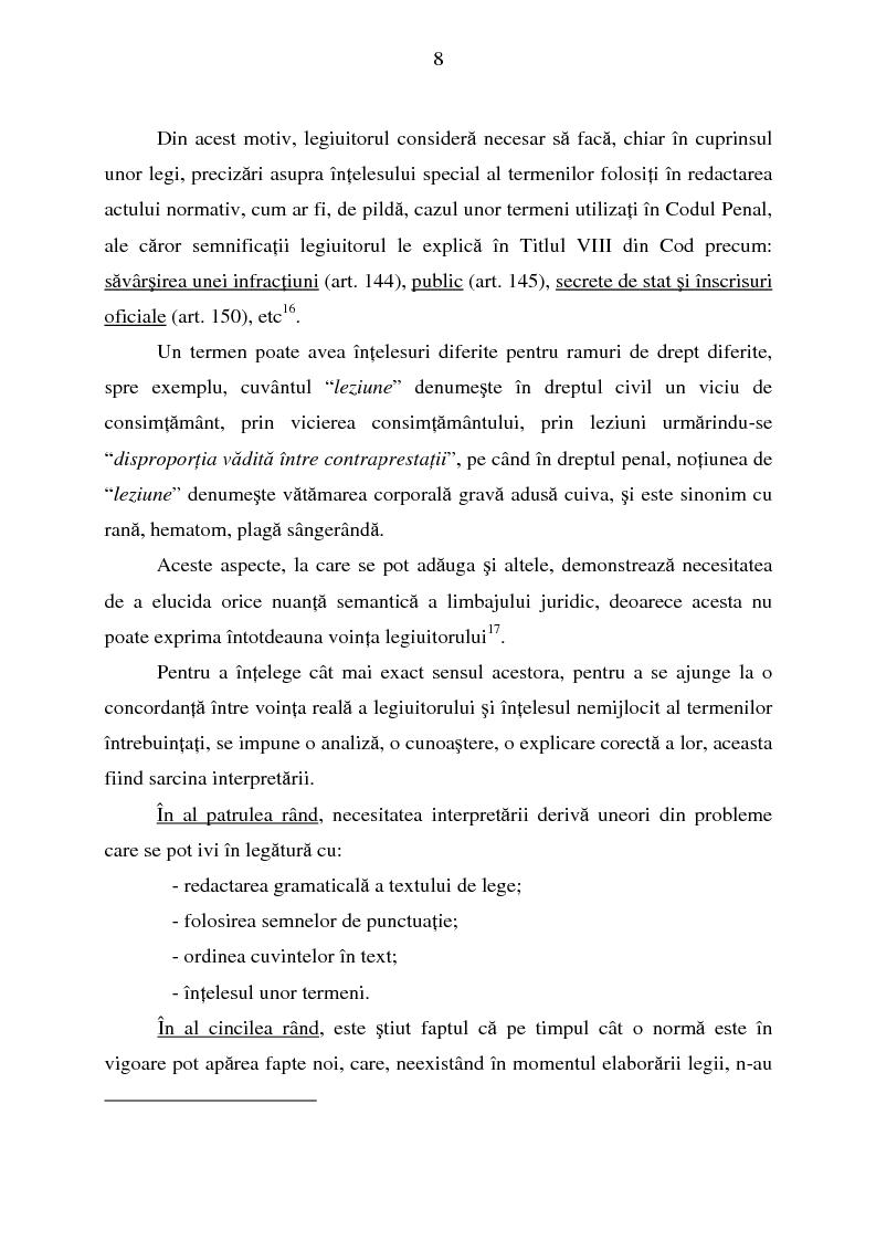 Anteprima della tesi: Interpretarea normelor juridice, Pagina 6