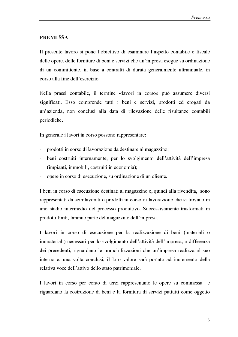 Anteprima della tesi: Commesse in corso di lavorazione, aspetti contabili e fiscali, Pagina 1