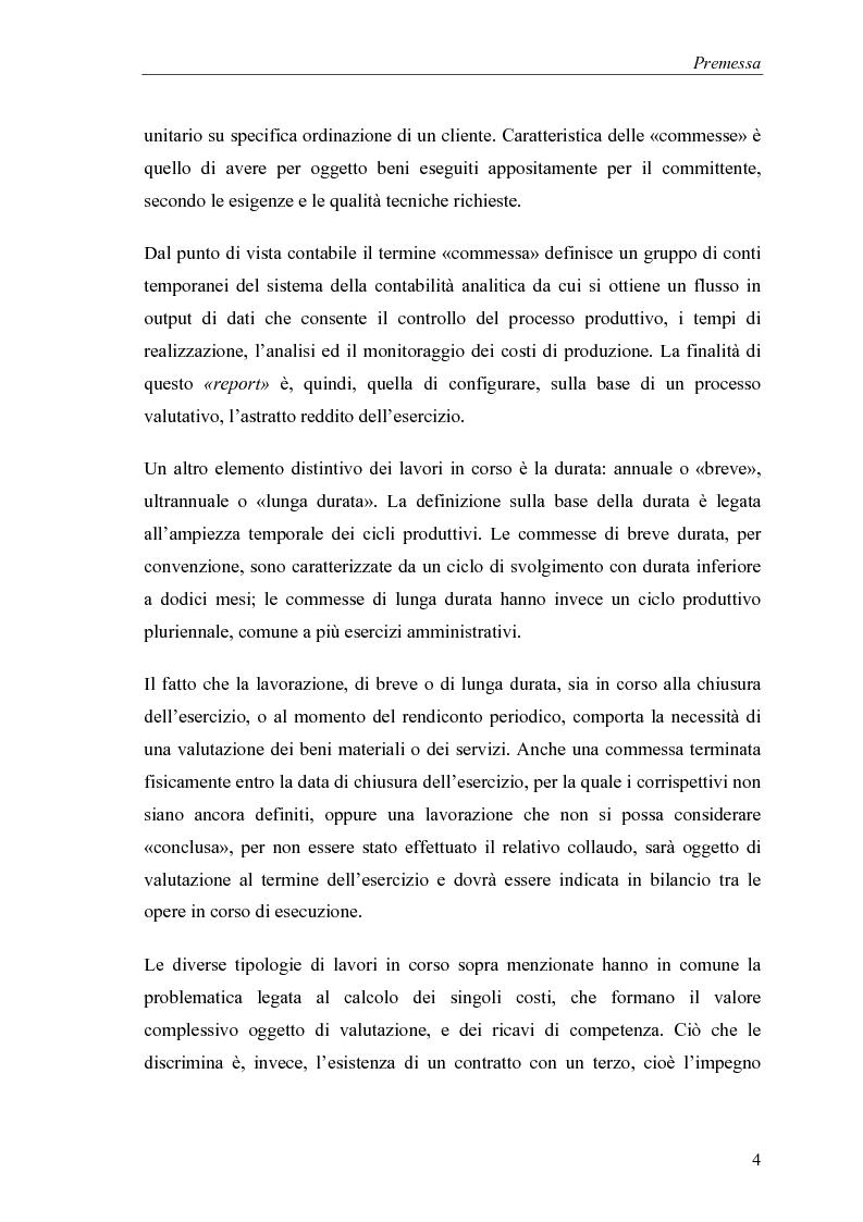 Anteprima della tesi: Commesse in corso di lavorazione, aspetti contabili e fiscali, Pagina 2