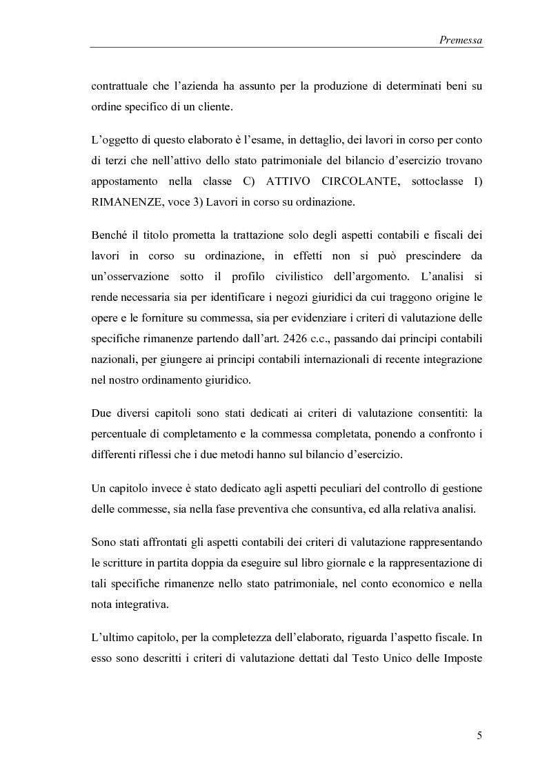 Anteprima della tesi: Commesse in corso di lavorazione, aspetti contabili e fiscali, Pagina 3