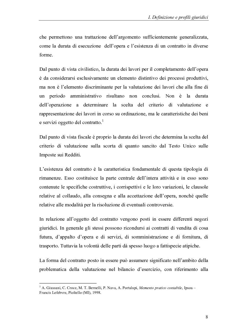 Anteprima della tesi: Commesse in corso di lavorazione, aspetti contabili e fiscali, Pagina 6