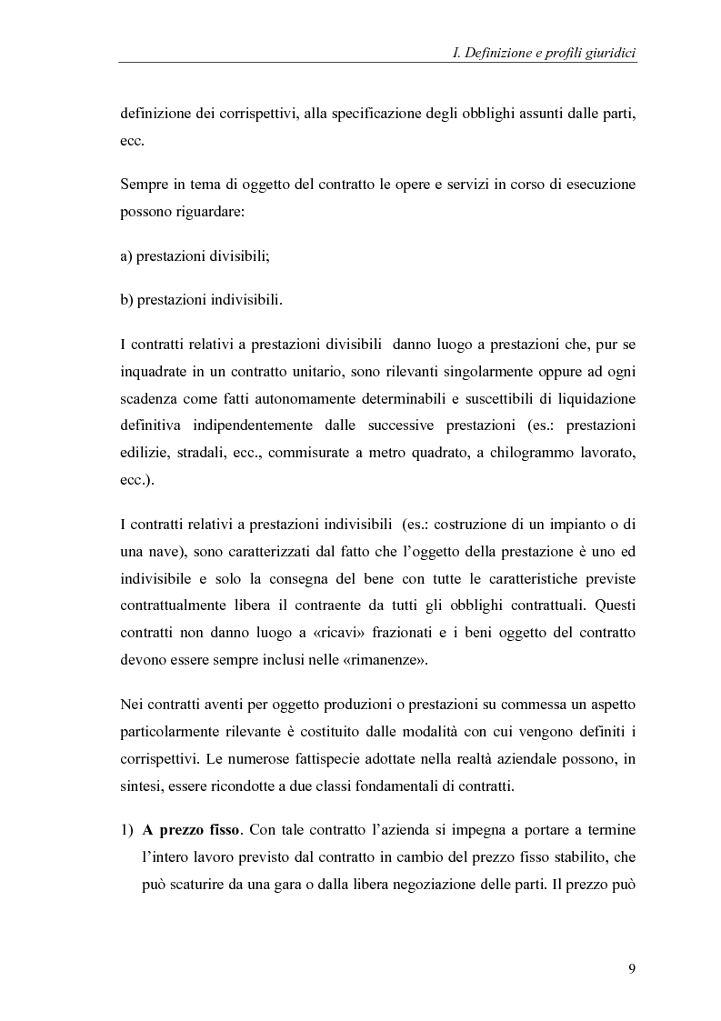 Anteprima della tesi: Commesse in corso di lavorazione, aspetti contabili e fiscali, Pagina 7