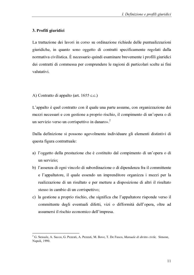 Anteprima della tesi: Commesse in corso di lavorazione, aspetti contabili e fiscali, Pagina 9