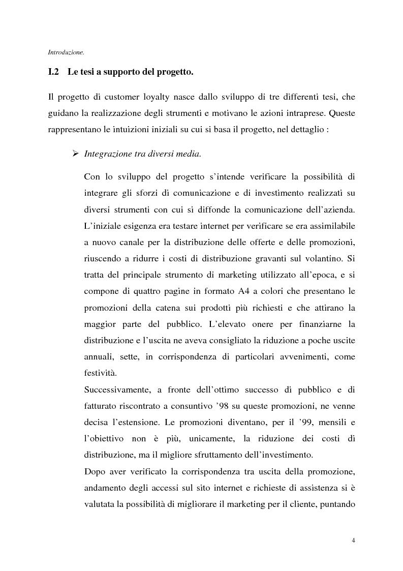 Anteprima della tesi: Le tecnologie dell'informazione a supporto della fidelizzazione della clientela: un caso di applicazione, Pagina 4