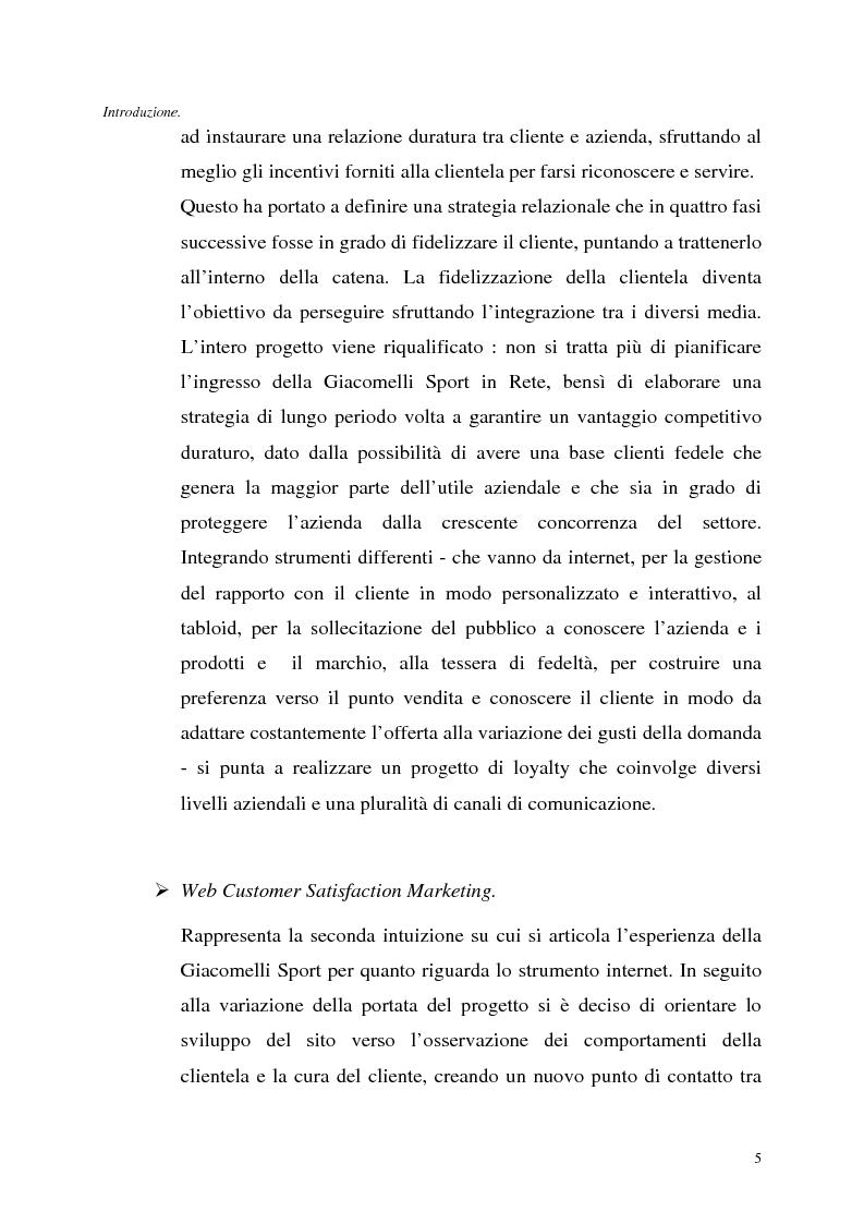 Anteprima della tesi: Le tecnologie dell'informazione a supporto della fidelizzazione della clientela: un caso di applicazione, Pagina 5
