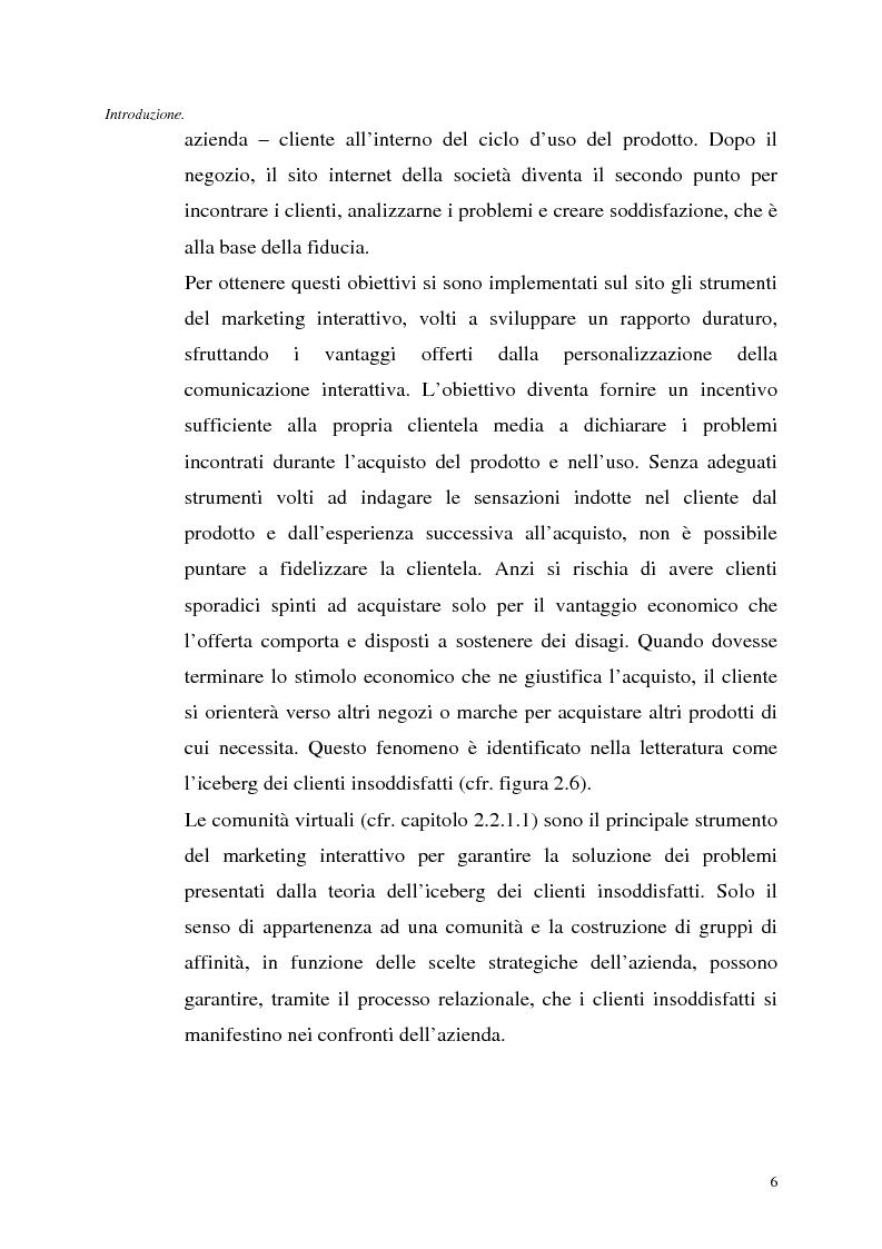 Anteprima della tesi: Le tecnologie dell'informazione a supporto della fidelizzazione della clientela: un caso di applicazione, Pagina 6