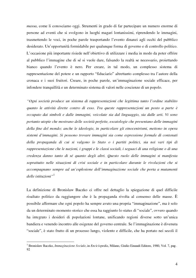 Anteprima della tesi: Cinegiornali dell'Istituto LUCE: linguaggio, propaganda e consenso nell'Italia fascista, Pagina 2