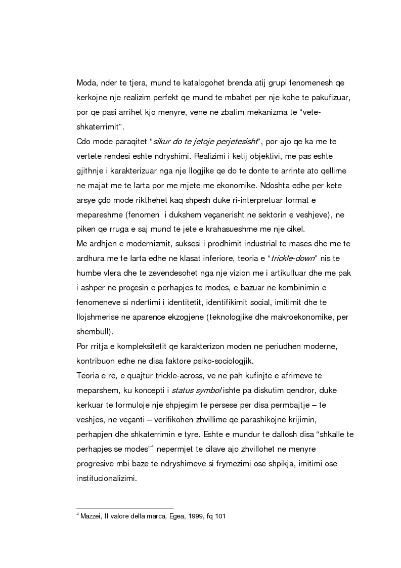 Anteprima della tesi: Si lind nje marke, si afirmohet nje mode, Pagina 2