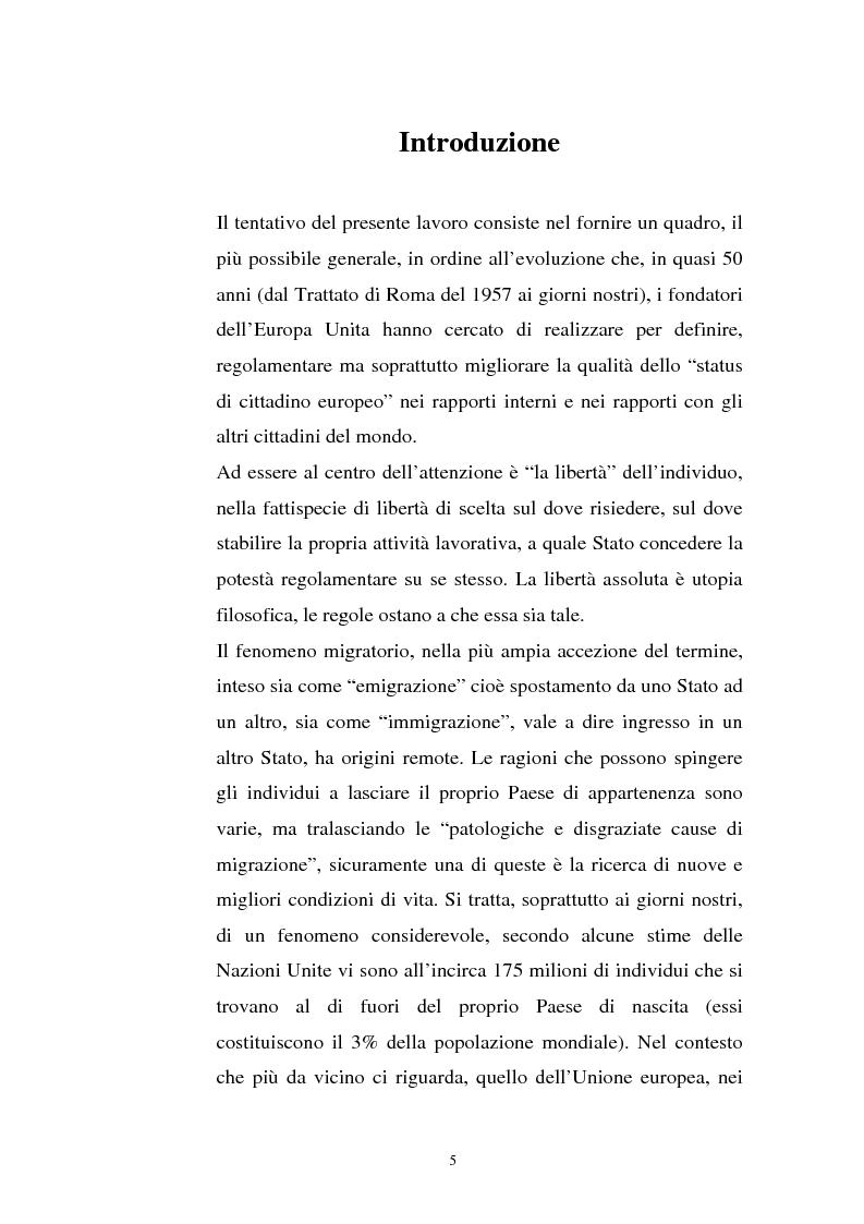 Anteprima della tesi: La politica migratoria dell'Unione Europea, Pagina 1
