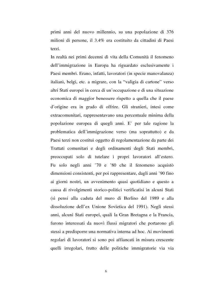 Anteprima della tesi: La politica migratoria dell'Unione Europea, Pagina 2