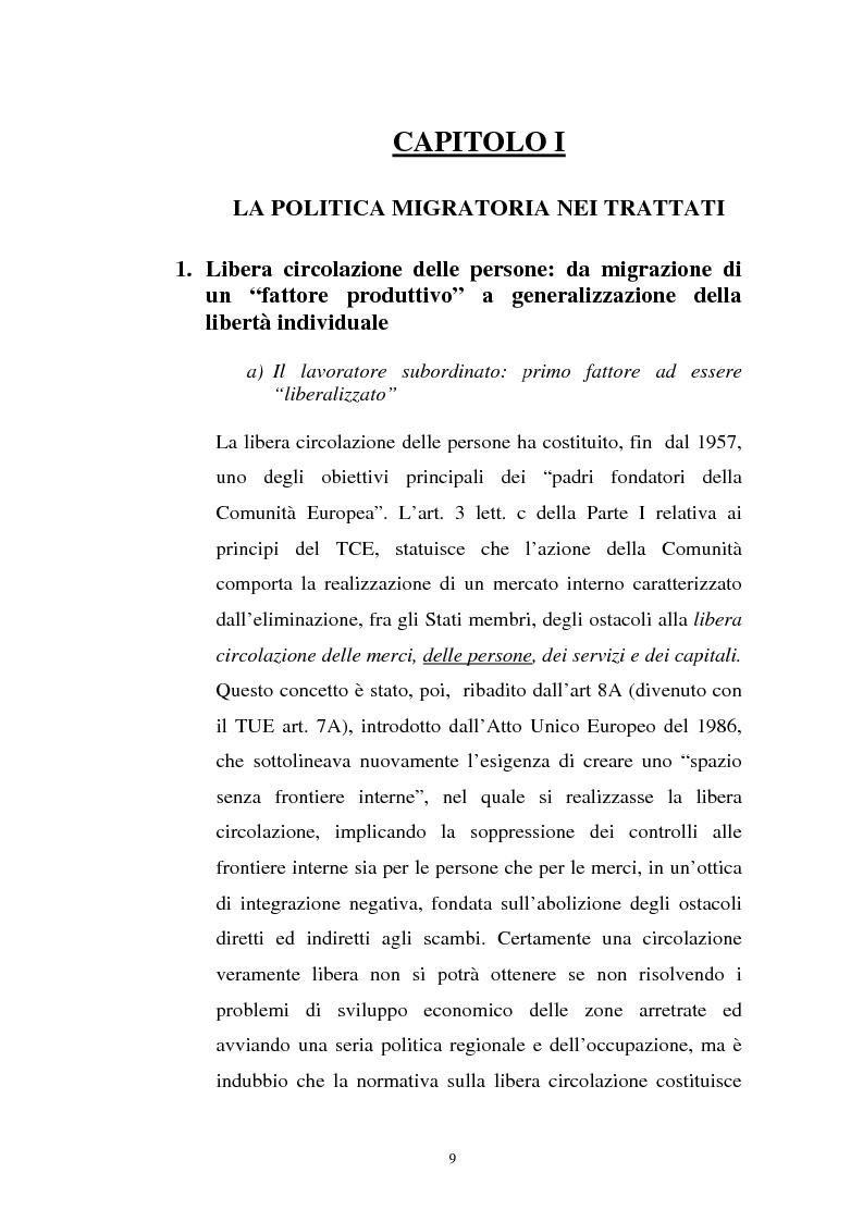 Anteprima della tesi: La politica migratoria dell'Unione Europea, Pagina 5