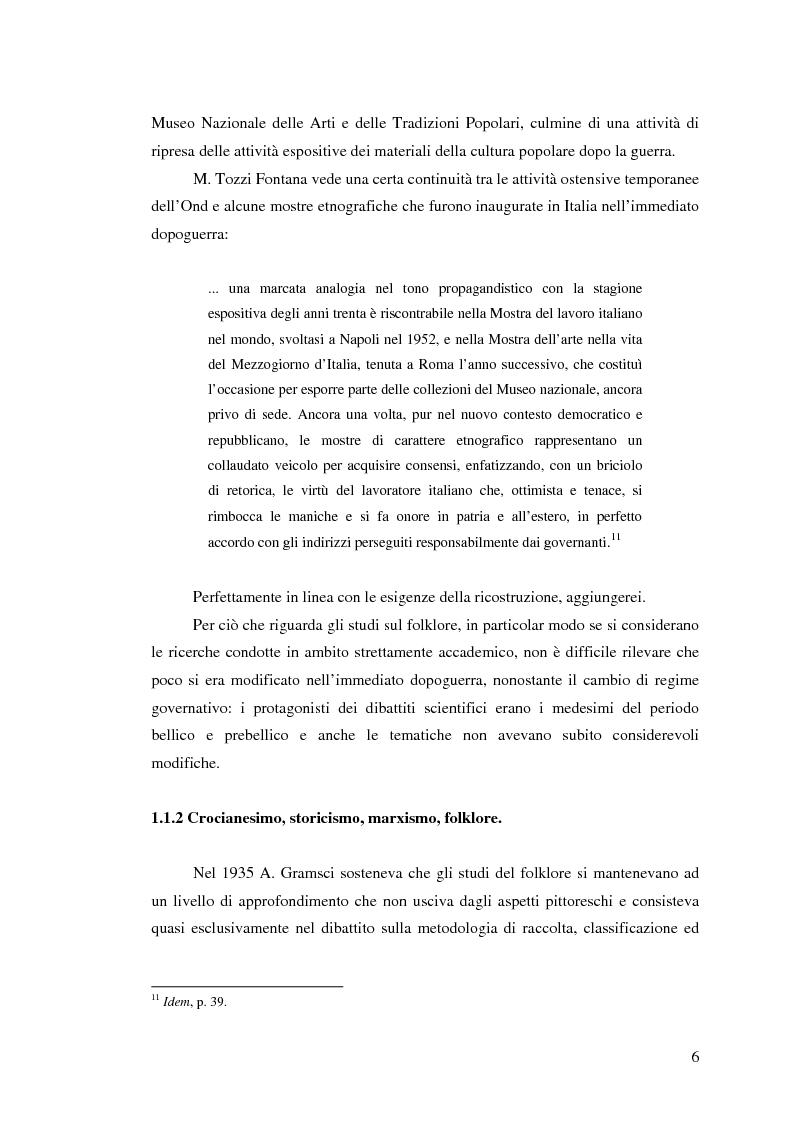 Anteprima della tesi: I percorsi del museo. Orientamenti della museografia demologica in Italia, Pagina 11