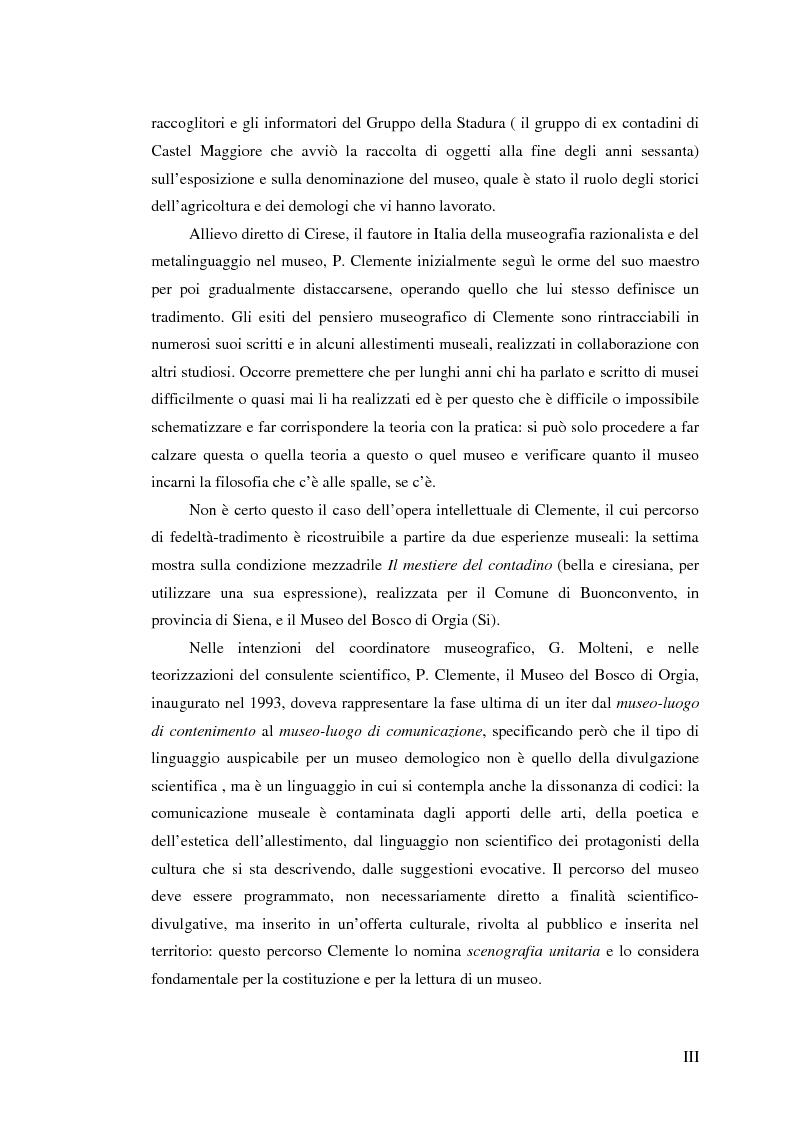 Anteprima della tesi: I percorsi del museo. Orientamenti della museografia demologica in Italia, Pagina 3
