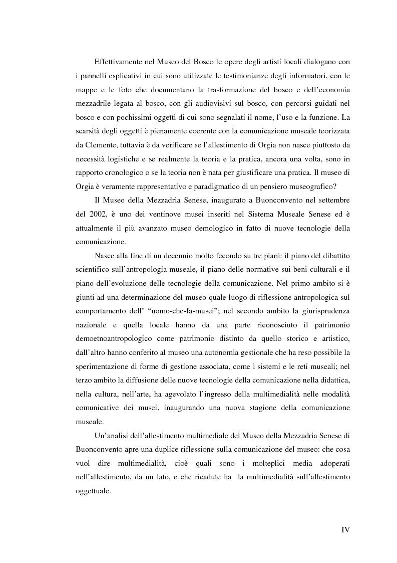 Anteprima della tesi: I percorsi del museo. Orientamenti della museografia demologica in Italia, Pagina 4