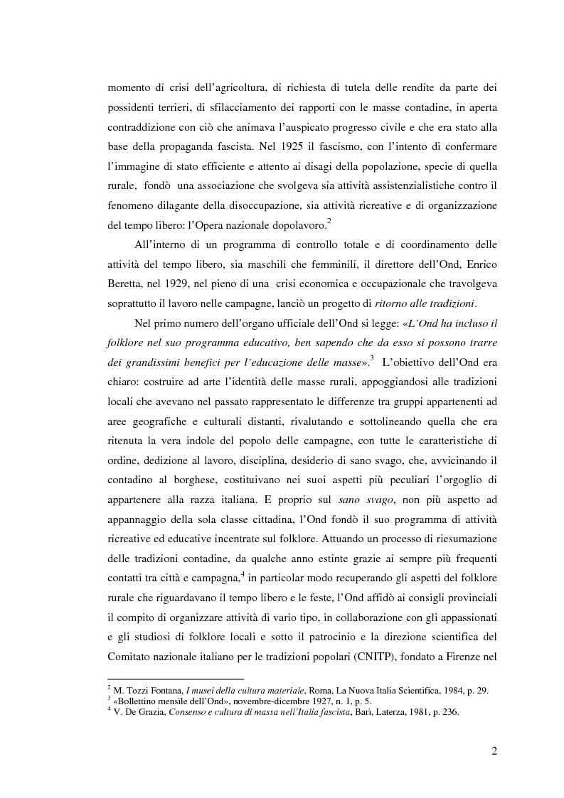 Anteprima della tesi: I percorsi del museo. Orientamenti della museografia demologica in Italia, Pagina 7