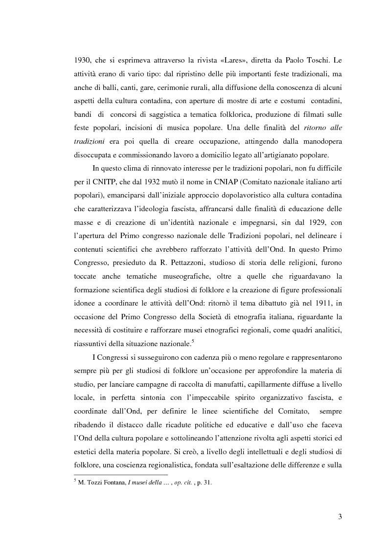 Anteprima della tesi: I percorsi del museo. Orientamenti della museografia demologica in Italia, Pagina 8