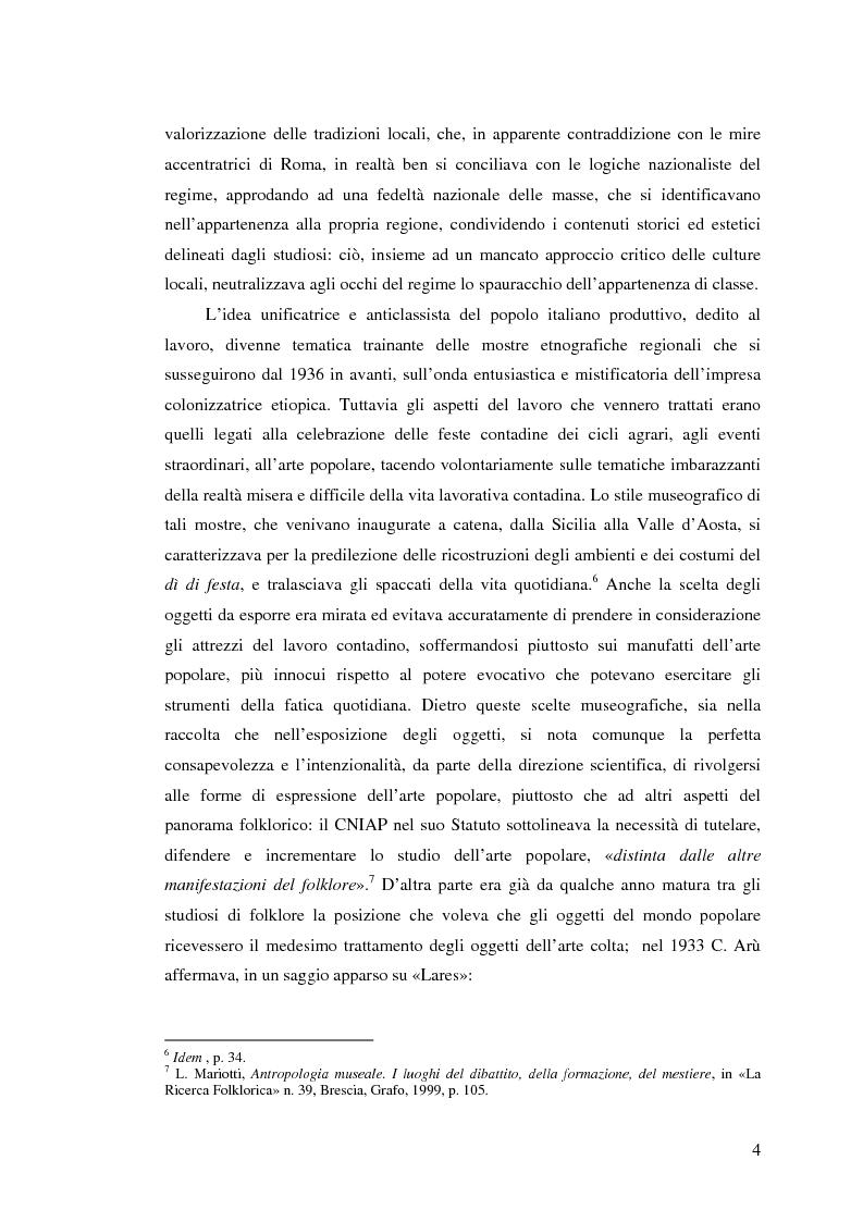 Anteprima della tesi: I percorsi del museo. Orientamenti della museografia demologica in Italia, Pagina 9