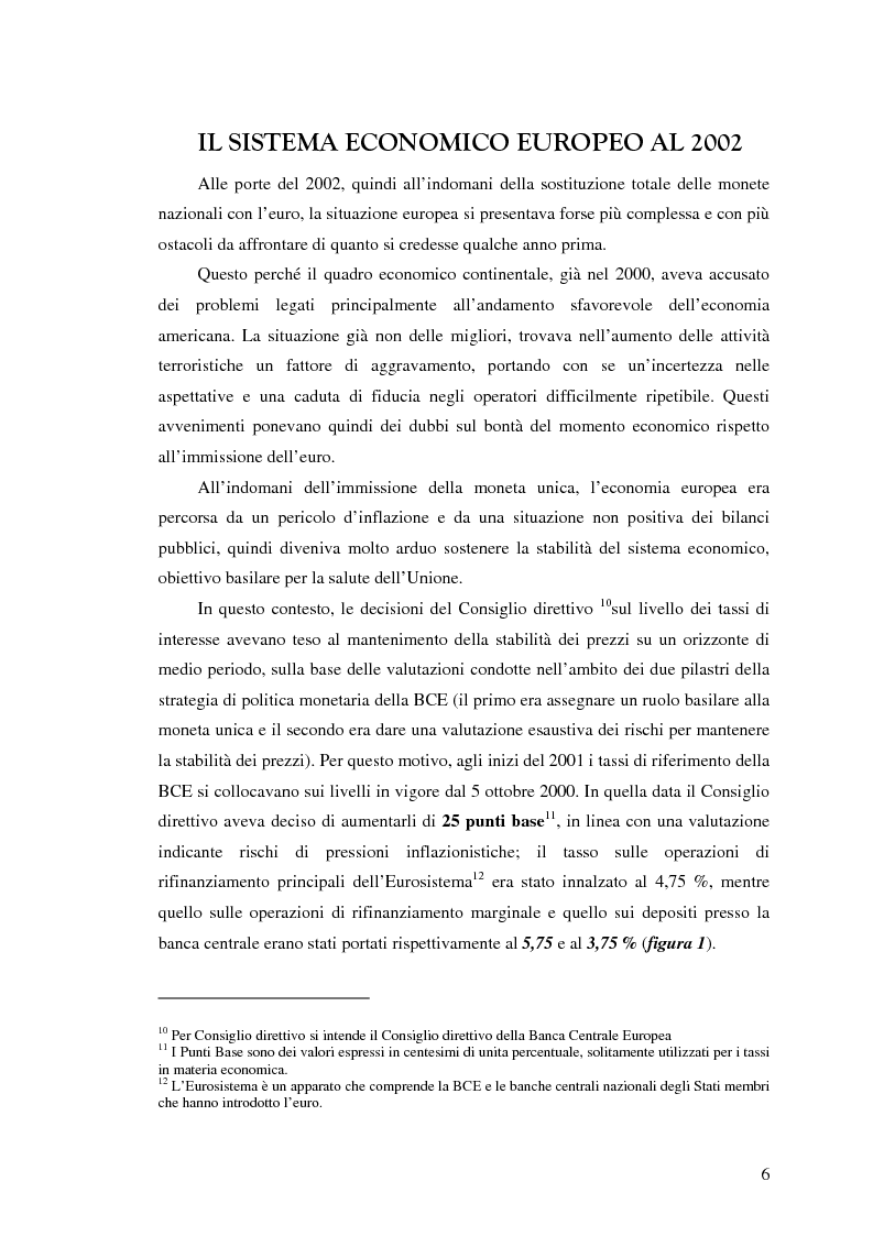Anteprima della tesi: Bilancio di un Triennio di Euro, Pagina 5