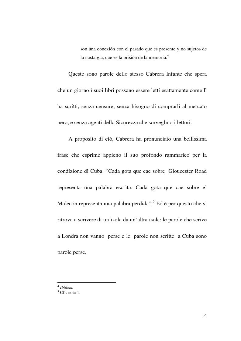 Anteprima della tesi: Tres Tristes Tigres di Guillermo Cabrera Infante: un'opera singolare della narrativa ispano-americana, Pagina 12