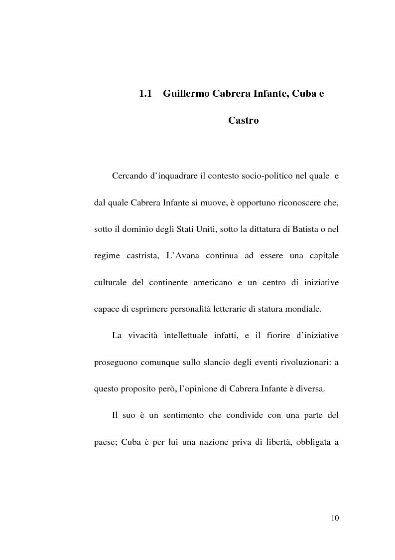 Anteprima della tesi: Tres Tristes Tigres di Guillermo Cabrera Infante: un'opera singolare della narrativa ispano-americana, Pagina 8