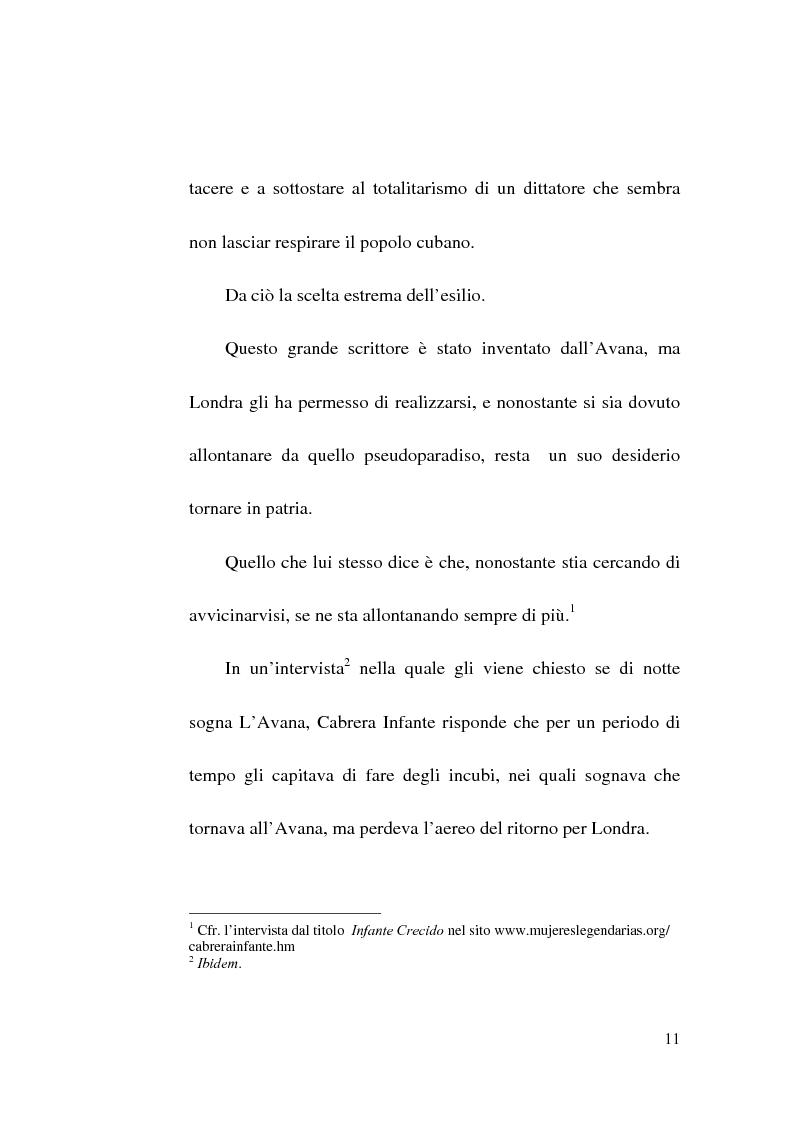 Anteprima della tesi: Tres Tristes Tigres di Guillermo Cabrera Infante: un'opera singolare della narrativa ispano-americana, Pagina 9