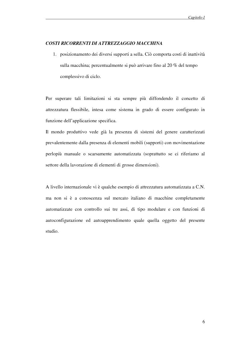 Anteprima della tesi: Progettazione di un attrezzo di posizionamento a controllo automatico per la lavorazione di pannelli aeronautici, Pagina 6