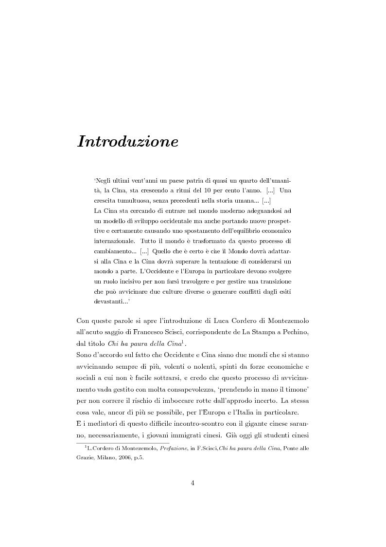 Anteprima della tesi: Cinesi di seconda generazione a Torino, Pagina 1