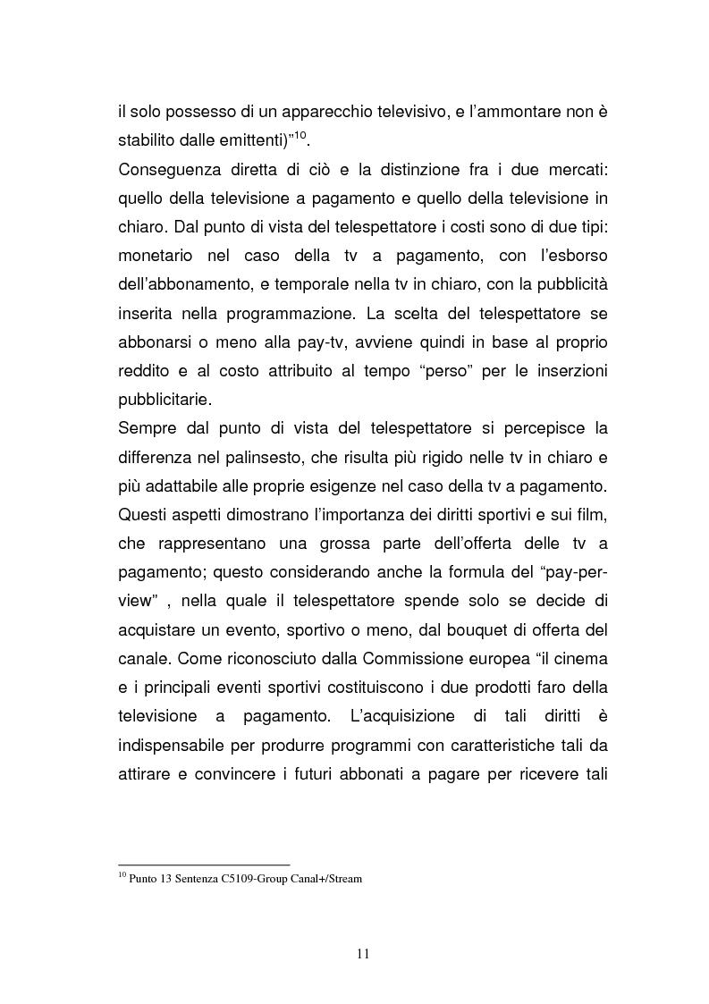 Anteprima della tesi: I diritti televisivi nel calcio: dalla nascita allo sviluppo, Pagina 11