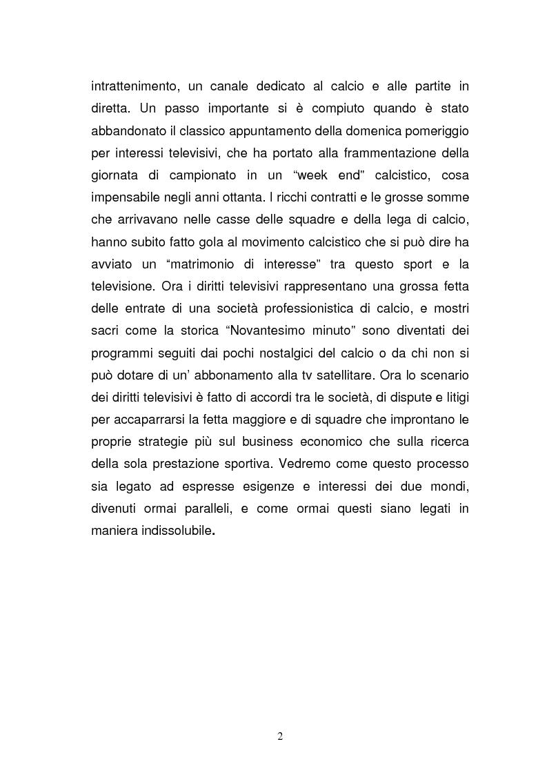 Anteprima della tesi: I diritti televisivi nel calcio: dalla nascita allo sviluppo, Pagina 2