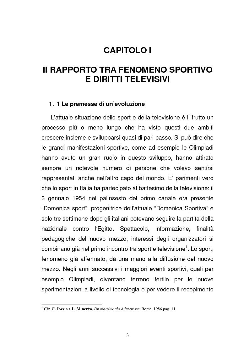 Anteprima della tesi: I diritti televisivi nel calcio: dalla nascita allo sviluppo, Pagina 3