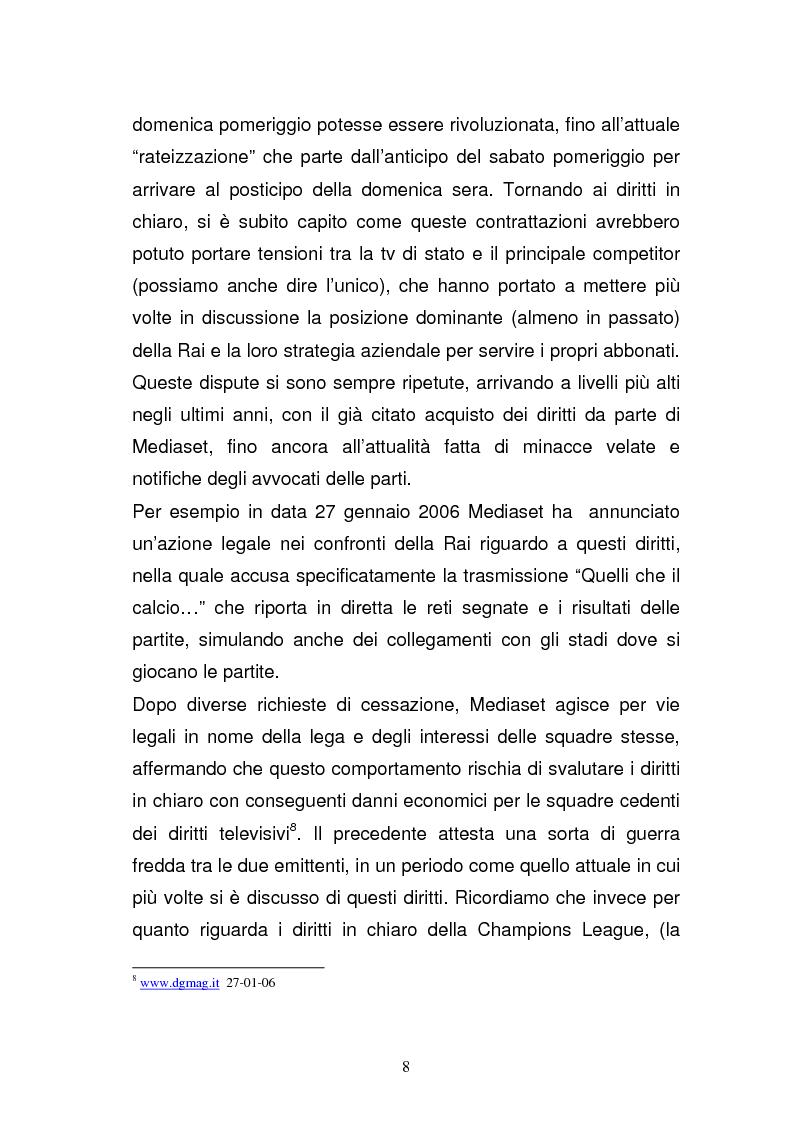 Anteprima della tesi: I diritti televisivi nel calcio: dalla nascita allo sviluppo, Pagina 8