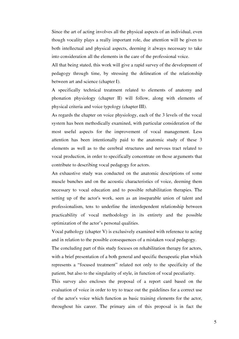 Anteprima della tesi: Actor-specific vocal pedagogy and rehabilitation therapy, Pagina 2