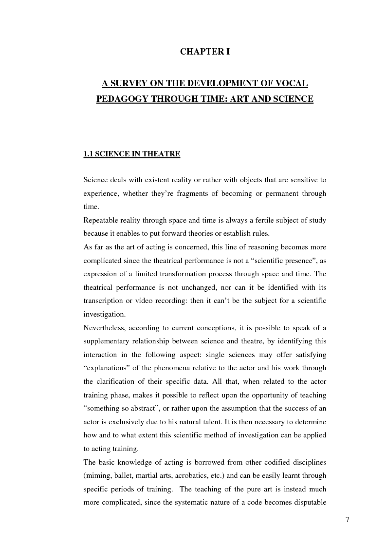 Anteprima della tesi: Actor-specific vocal pedagogy and rehabilitation therapy, Pagina 4