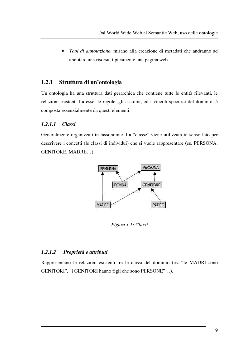 Anteprima della tesi: Progettazione e relizzazione di un'applicazione semantica per il controllo e la gestione di informazioni turistiche: l'aspetto delle ontologie., Pagina 9