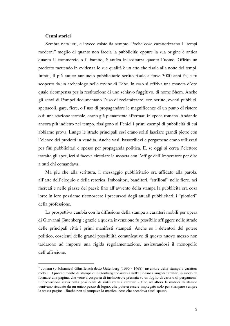 Anteprima della tesi: Evoluzione della comunicazione pubblicitaria ed influenza delle psicologie, Pagina 3