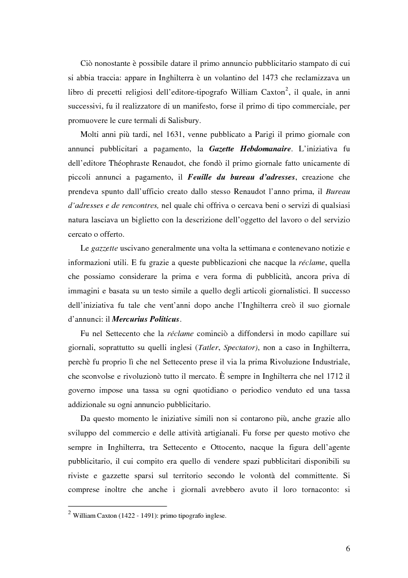 Anteprima della tesi: Evoluzione della comunicazione pubblicitaria ed influenza delle psicologie, Pagina 4