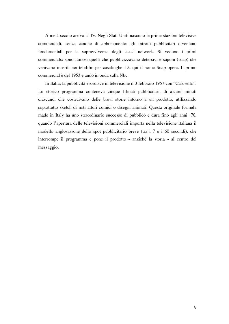 Anteprima della tesi: Evoluzione della comunicazione pubblicitaria ed influenza delle psicologie, Pagina 7