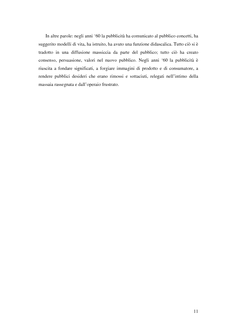 Anteprima della tesi: Evoluzione della comunicazione pubblicitaria ed influenza delle psicologie, Pagina 9