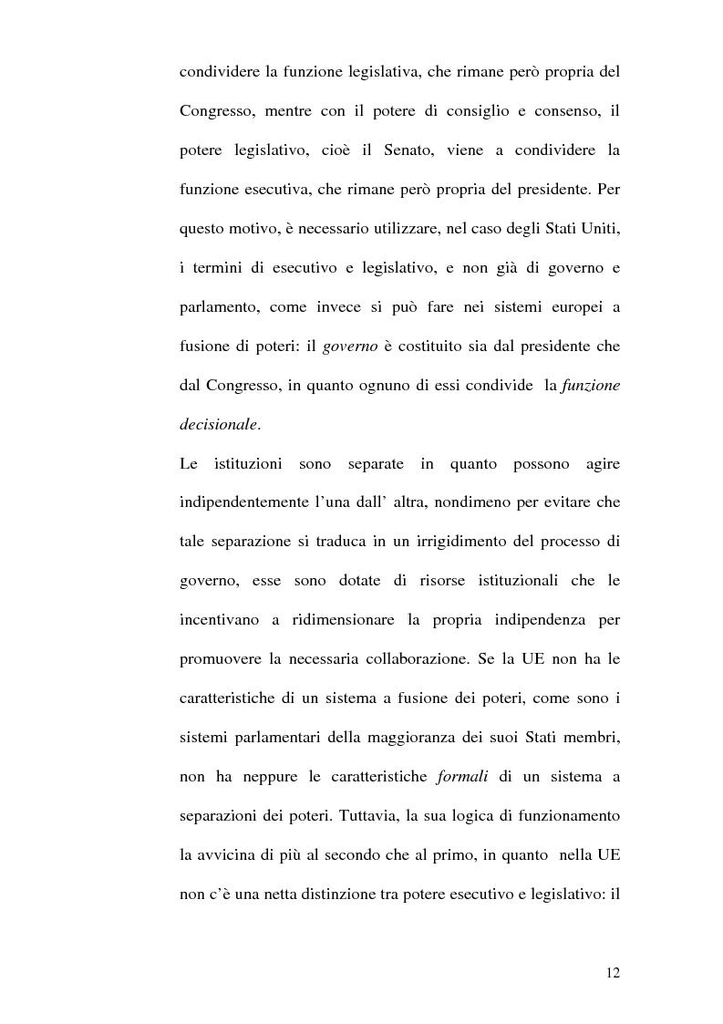 Anteprima della tesi: Il Parlamento: una comparazione tra il sistema statunitense e l'Unione Europea, Pagina 10
